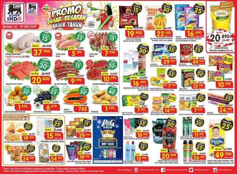 Diskon Katalog Promo Besar Besaran Akhir Tahun Superindo Supermarket Periode 17-19 Desember 2019