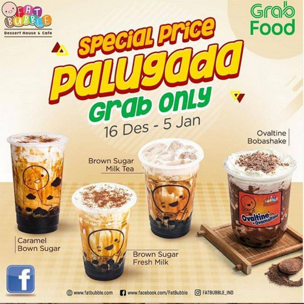 Fat Bubble Indonesia, Promo Palugada Pesan Via Grab Food