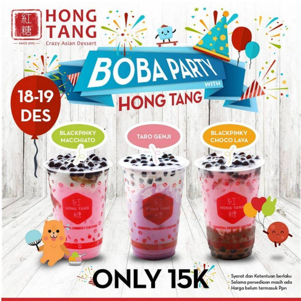 Hong Tang Promo Boba Party Cuma 15.000