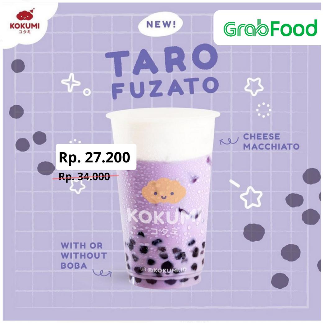 Kokumi Promo Diskon 20% Menu Baru Taro Fuzato Di Grabfood