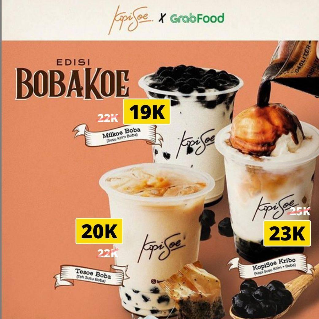 Kopi Soe Promo Potongan Harga Menu BobaKoe Pesan Via Grabfood
