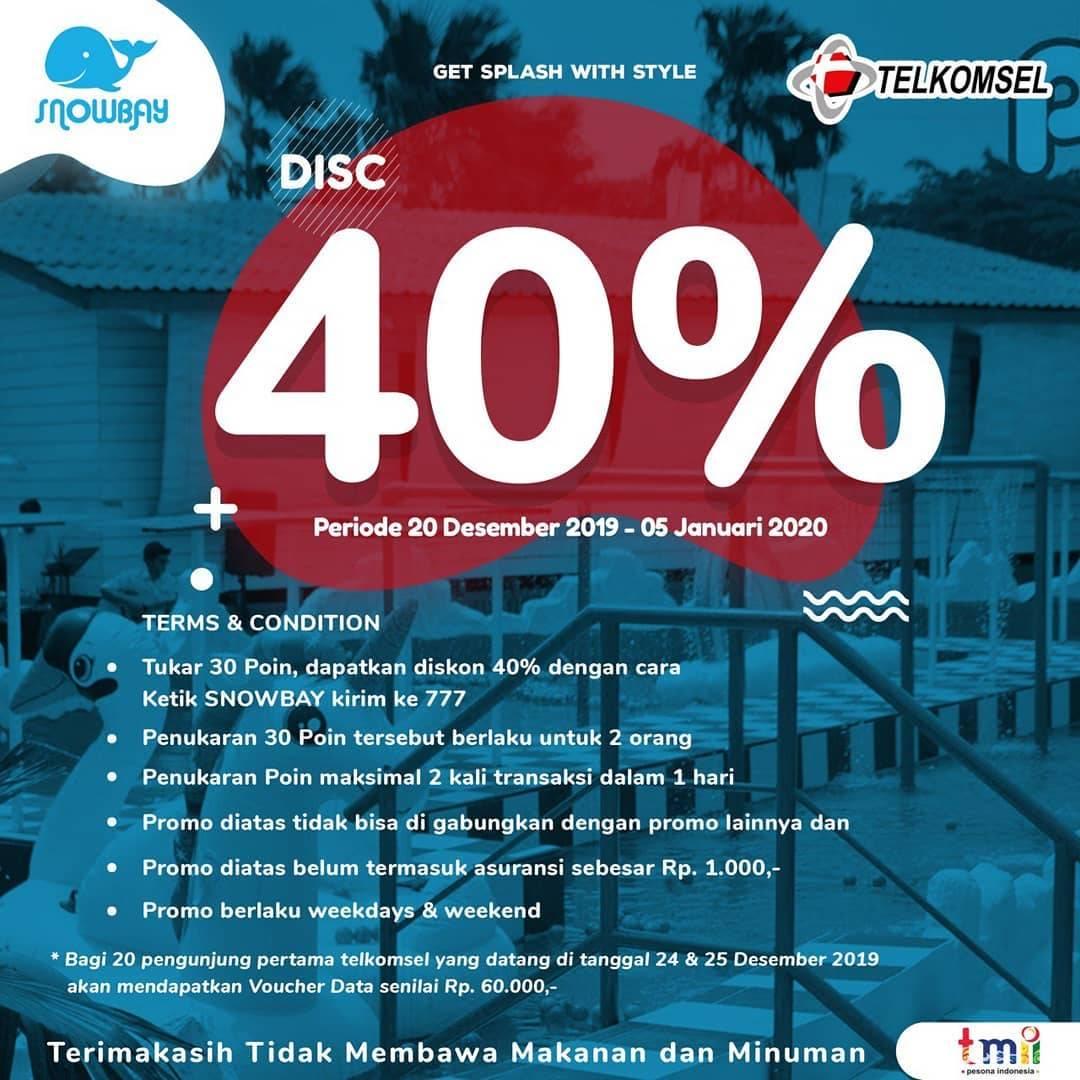 Snowbay Waterpark Promo Spesial Pelanggan Telkomsel, Diskon 40%!