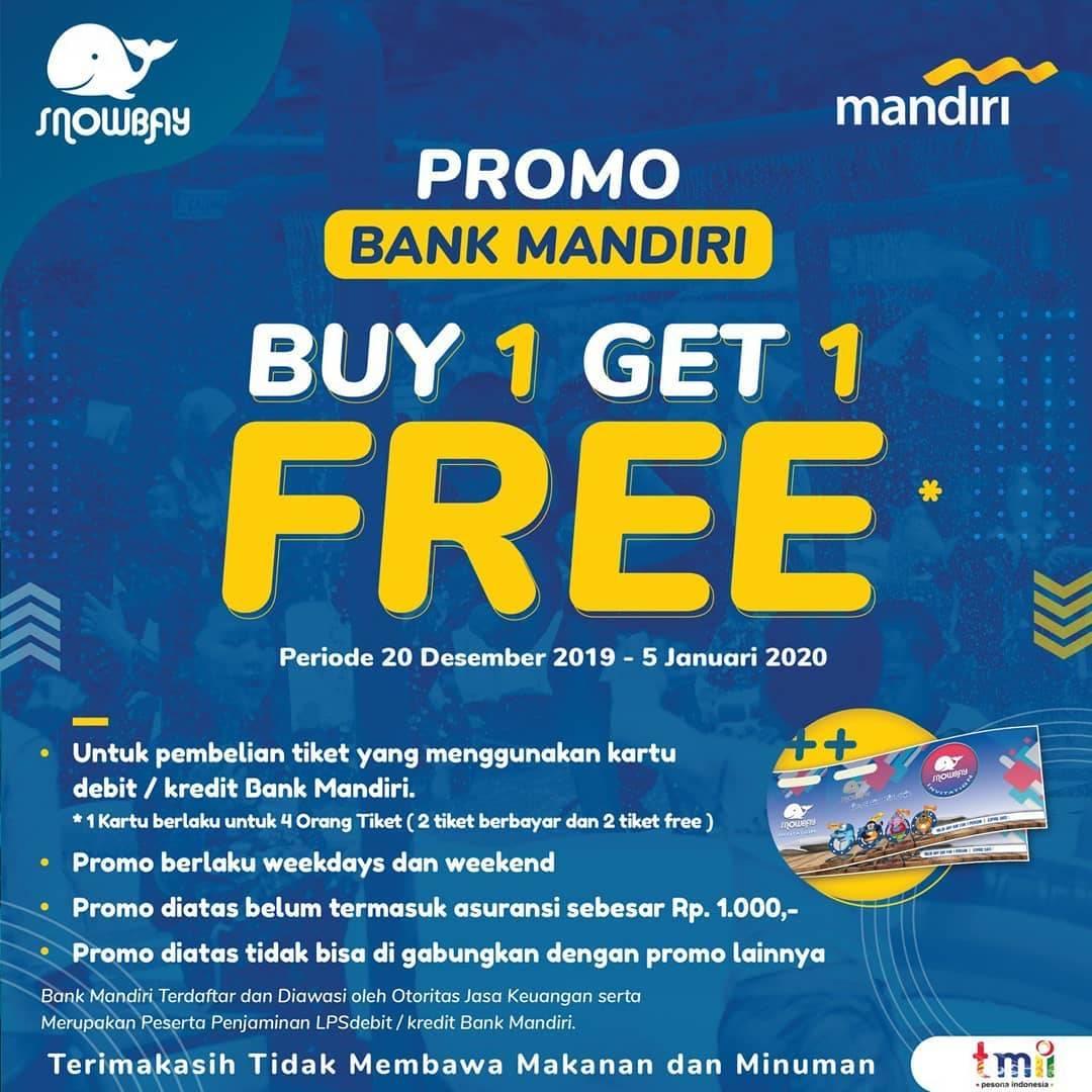 Snowbay Waterpark Promo Spesial Mandiri Card, Buy 1 Get 1 Free!