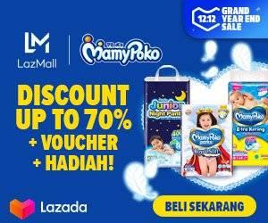 Lazada Promo Diaper Bayi Mamypoko Diskon Hingga 70%!