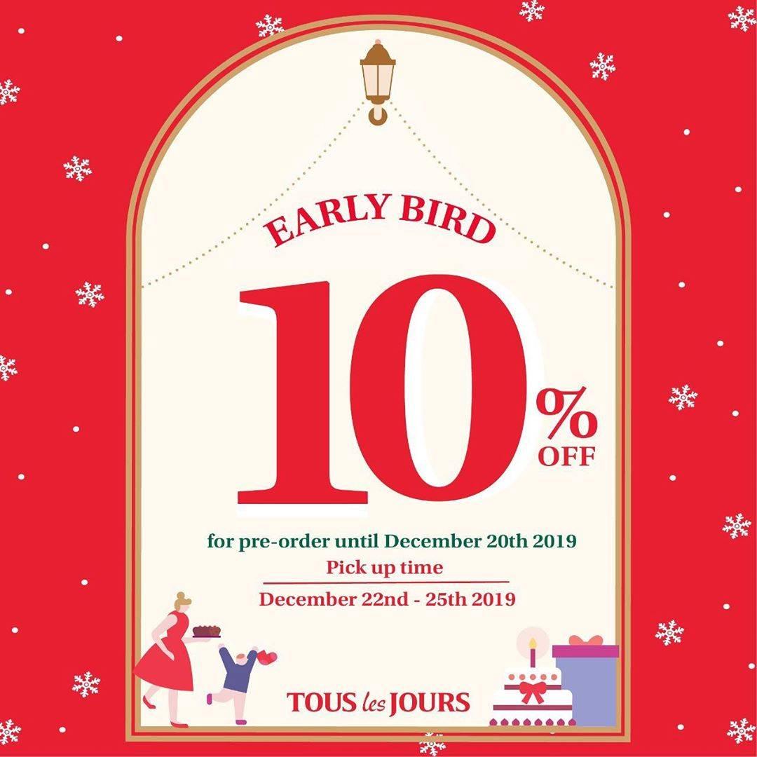 Tous Les Jours Early Bird Promo Dapatkan Discount 10% untuk Seasonal Cake