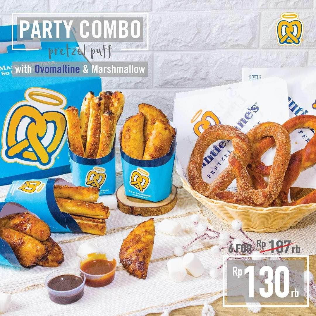 Auntie Anne Party Combo Dapatkan Paket 6pcs Hanya Rp. 130.000