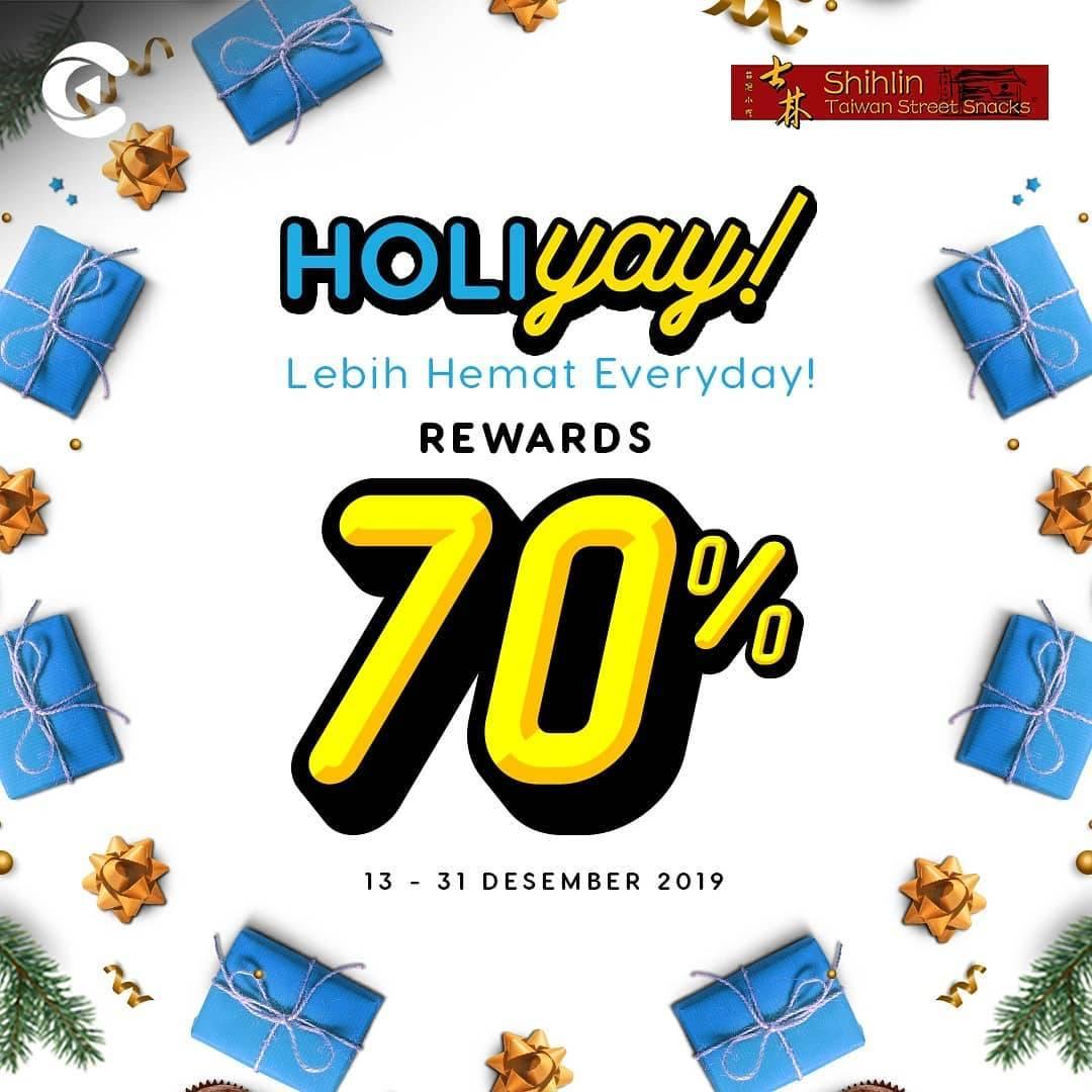 Shihlin Promo Holiyeay DapatkanCashbac Reward Hingga 70%