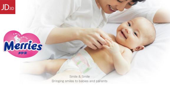 Diskon JD.ID Promo Merries Baby Diaper Diskon Hingga 24%!