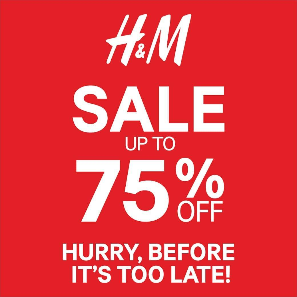 H&M Fashion Year End Sale, Diskon Hingga 75%