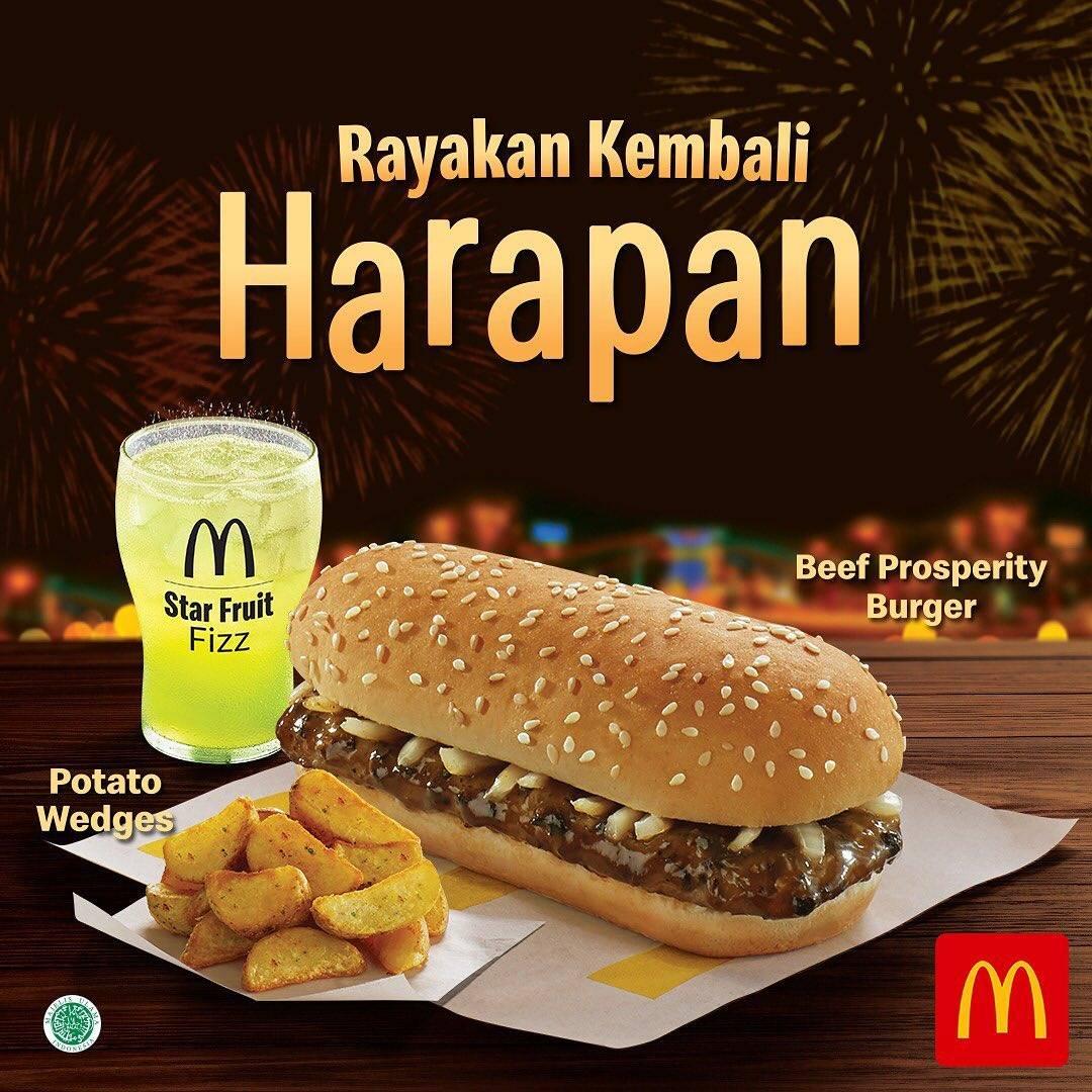 McDonalds Promo Menu Tahun Baru Beef Prosperity