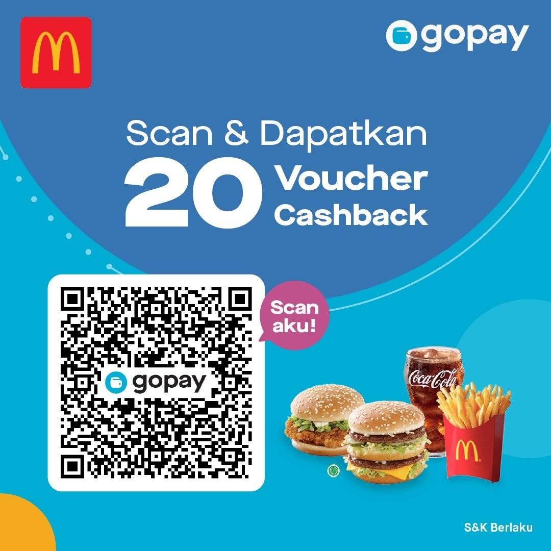McDonalds Promo Free 20 Cashback Voucher Dengan Gopay