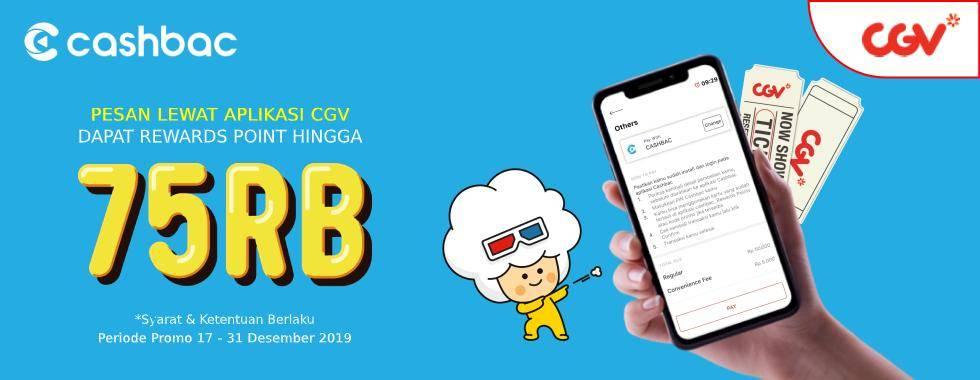 CGV Cinema Promo Nomat Dengan Cashbac, Cashback Hingga Rp. 75.000!