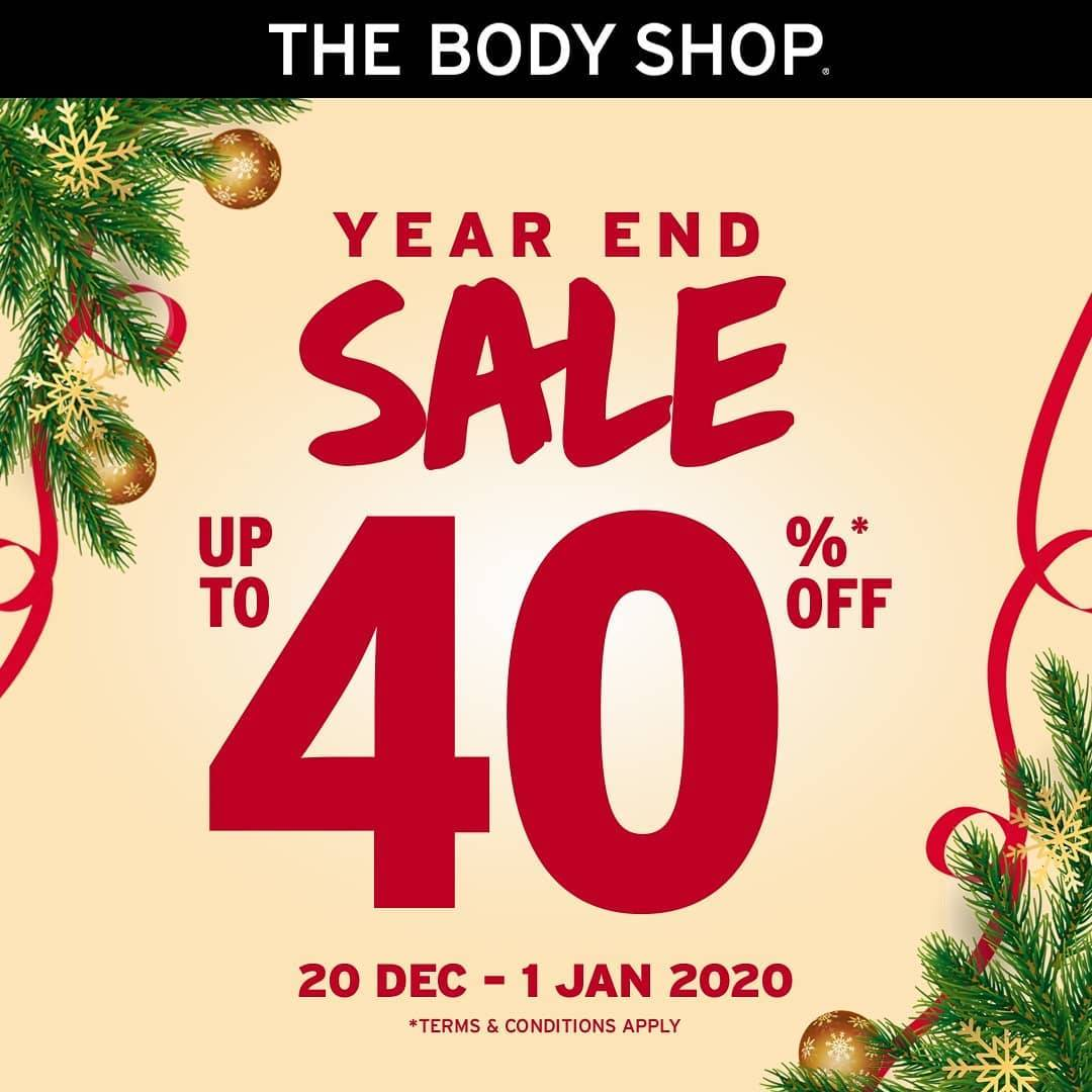 The Body Shop Promo Year End Sale, Diskon 40% Off!