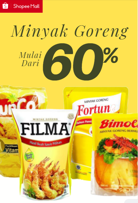 Shopee Promo Minyak Goreng Diskon Hingga 60% + Free Ongkir Hingga Rp 50.000!