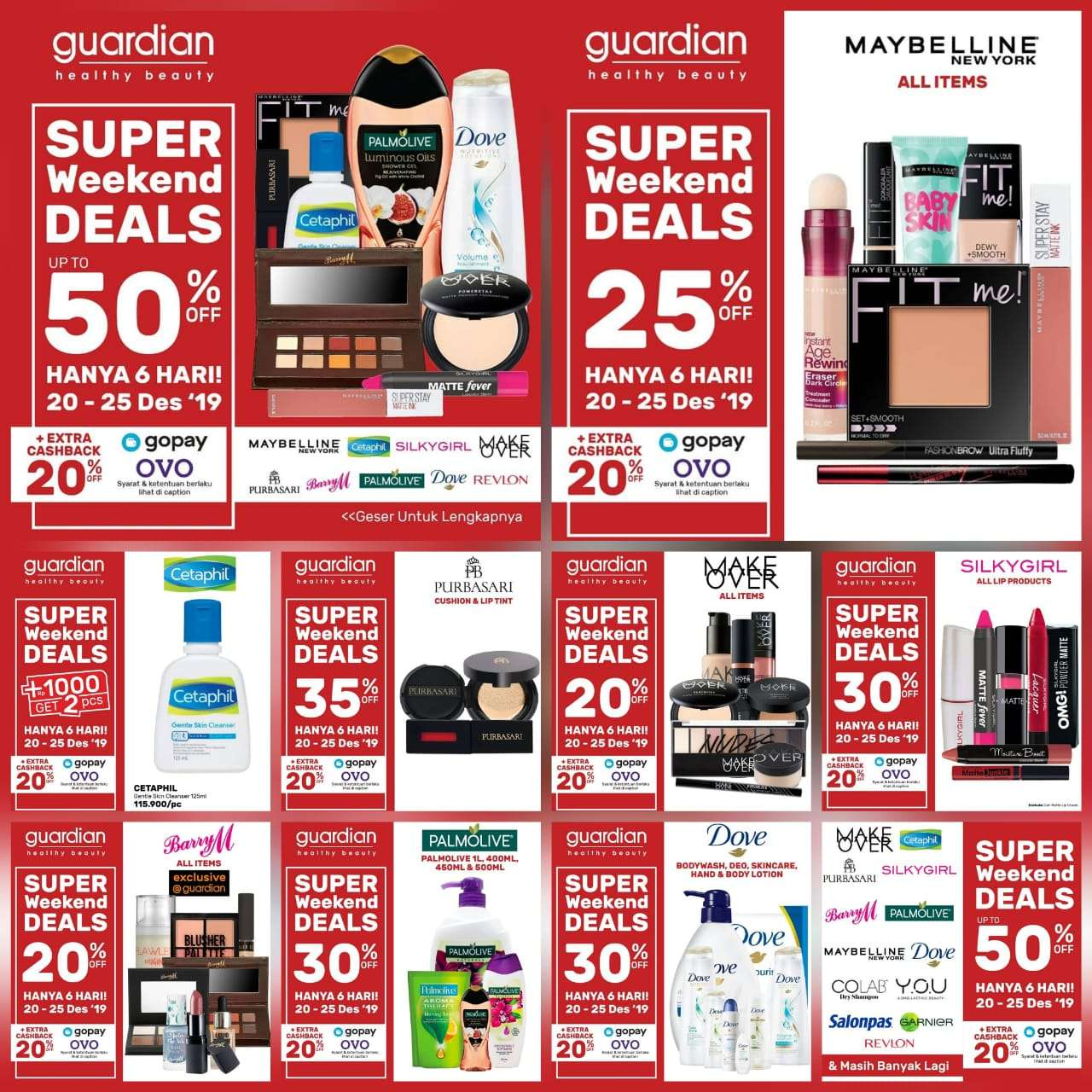 Guardian Promo Super Weekend Deals, Diskon Hingga 50%