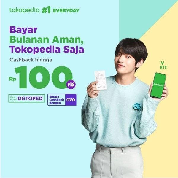 Tokopedia Promo Bayar Tagihan Langsung Dapat Cashback Hingga Rp. 100.000!