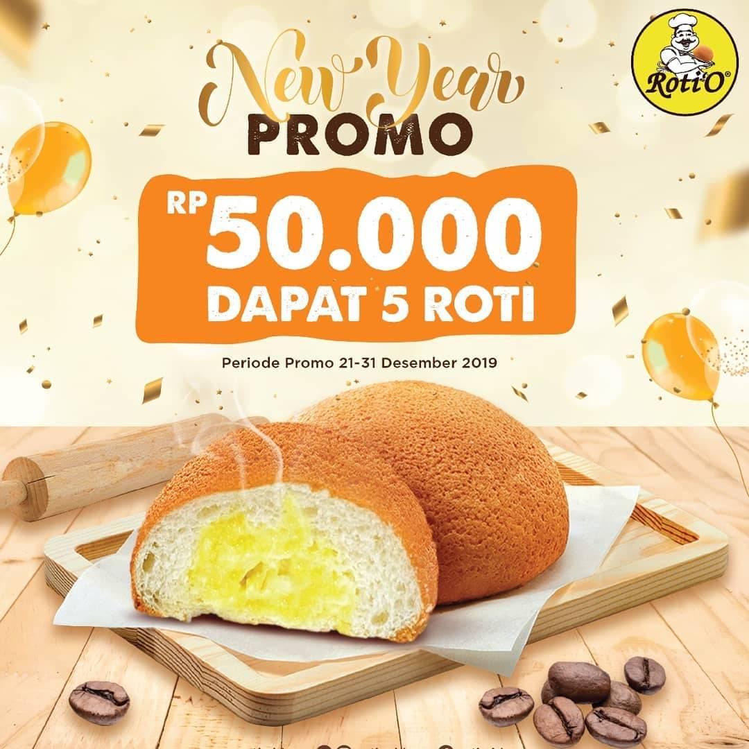 Roti'O New Year Promo Rp 50.000 dapat 5 Roti