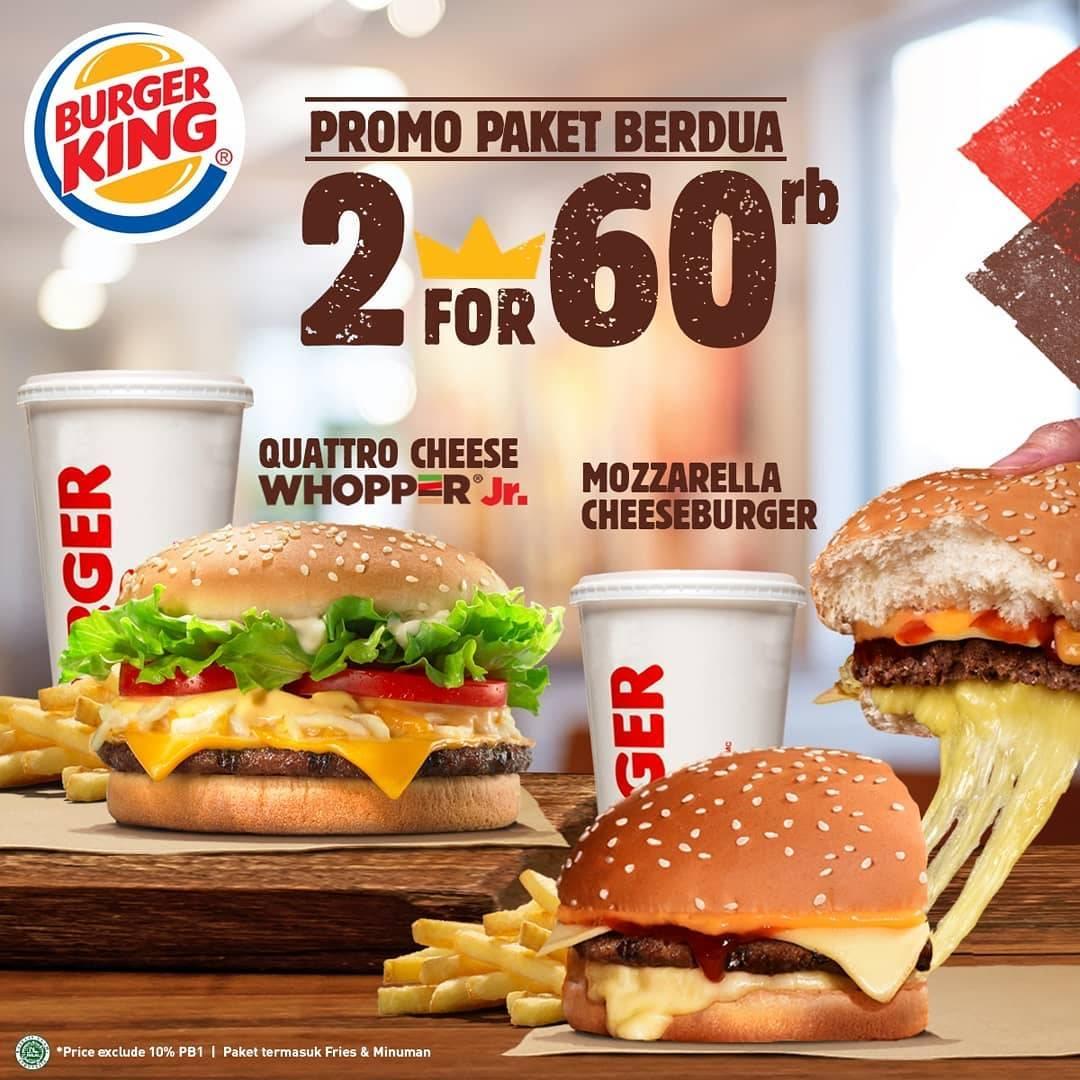 Burger King Promo Paket Makan Hemat Berdua Cuma Rp. 60 Ribuan!