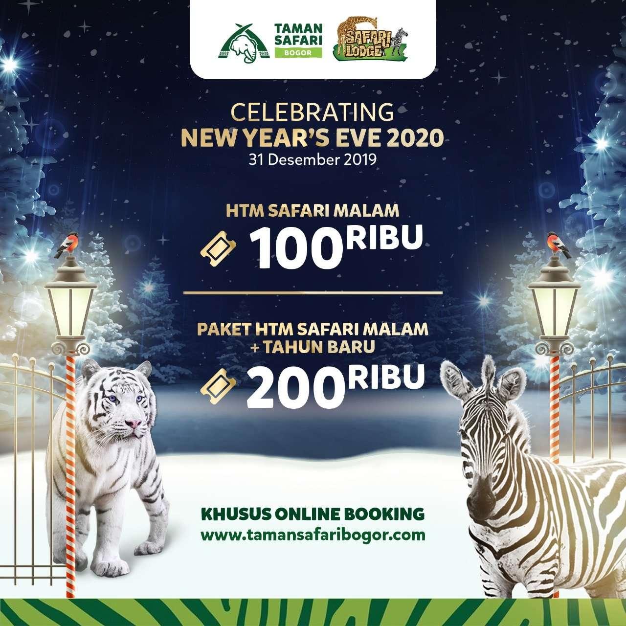Taman Safari Promo Malam Tahun Baruan, HTM Mulai Rp. 100 Ribu!
