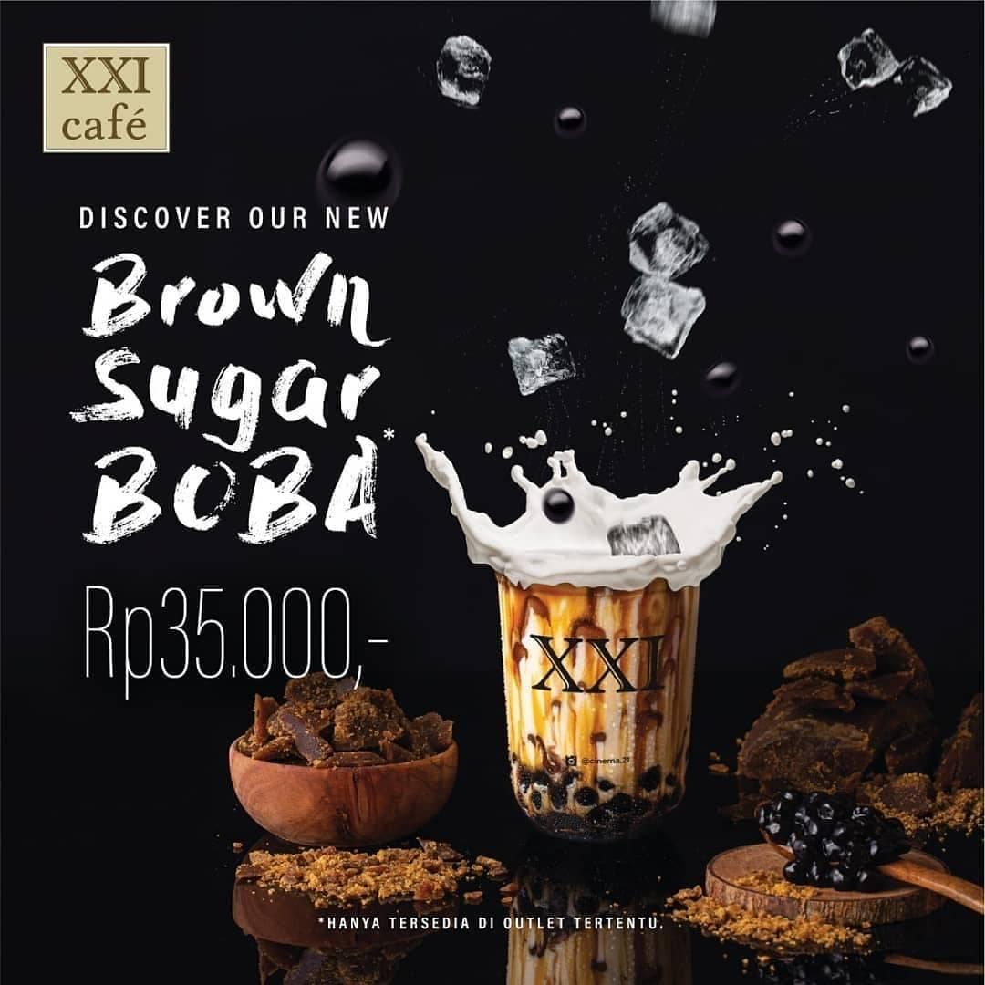 Cinema XXI Promo Menu Minuman Terbaru, Beli Brown Sugar Boba Cuma Rp. 35.000!