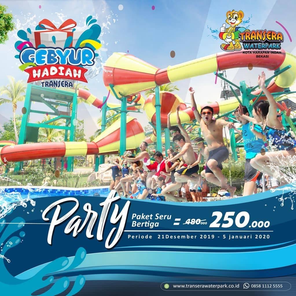Transera Waterpark Promo Paket Seru Bertiga Dapatkan Harga Spesial Hanya Rp. 250.000
