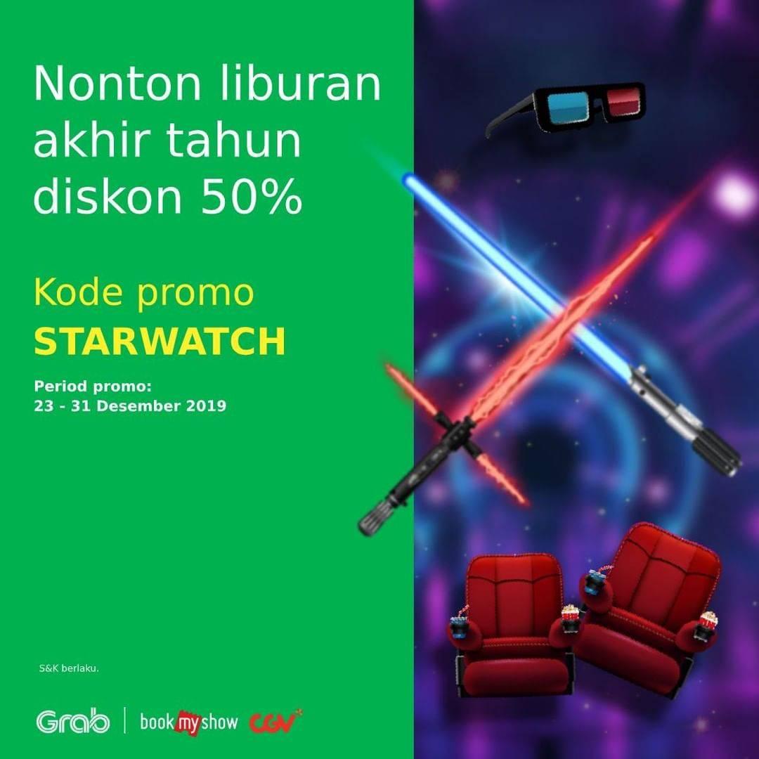 CGV Cinema Promo Nonton Hemat Dengan Diskon 50% Hanya Di Grab Dan Bookmyshow