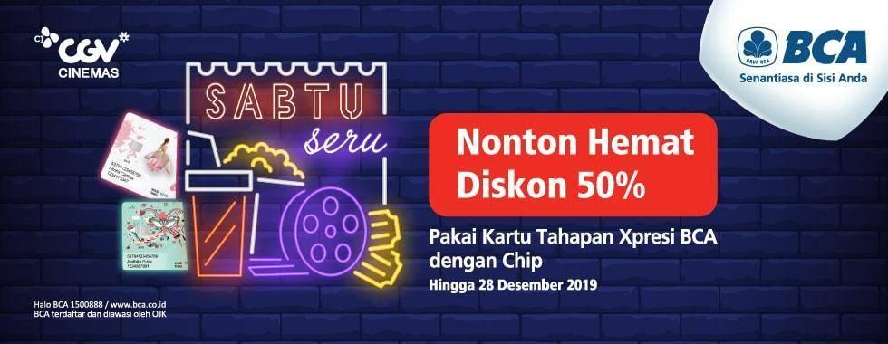 CGV Diskon 50% Beli Tiket Nonton Pakai Kartu Debit BCA Xpresi Mastercard