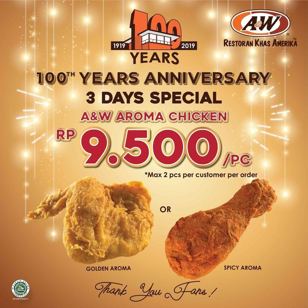 A&W Promo Spesial Menu Pilihan Seharga Rp.9.500