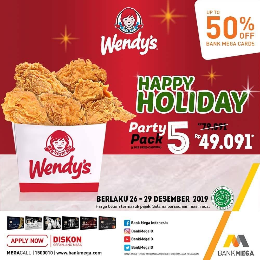 Wendys Promo Harga Spesial Dapatkan 5 Potong Ayam Hanya Rp. 49 Ribuan