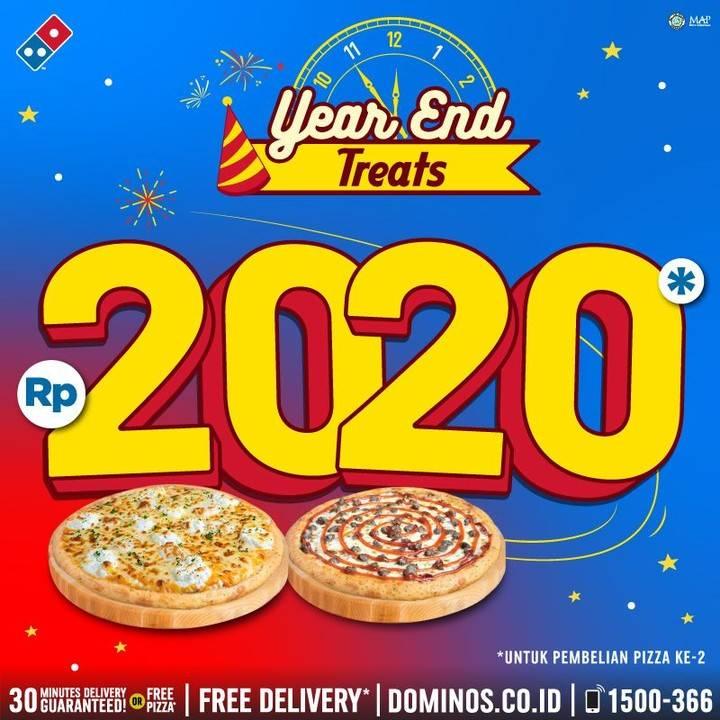 Diskon Domino's Pizza Promo Dapatkan Harga Rp.2.020 Khusus Pembelian Pizza Kedua