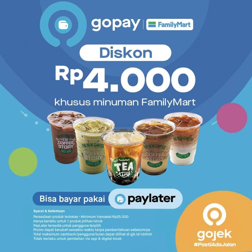 Familymart Diskon Rp.4.000, Berlaku Untuk Pembayaran Dengan Gopay