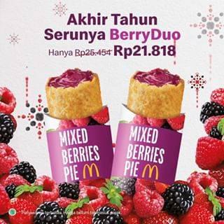 McDonalds Promo Makan Berdua Menu Mix Berries Pie Seharga Rp.21.818