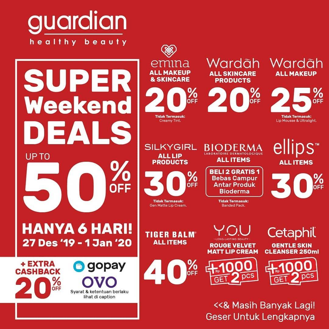 Guardian Special Weekend Deals Up To 50% Off