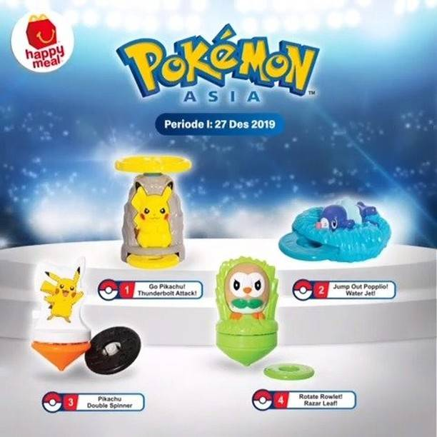 McDonalds Promo Happy Meal Gratis Mainan Pokemon atau Buku Cerita