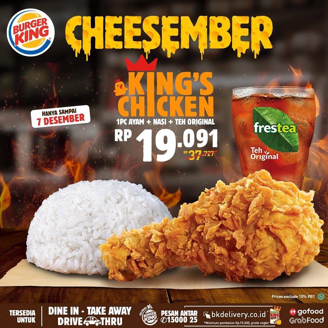 Diskon Burger King Promo King's Chicken Cheesember
