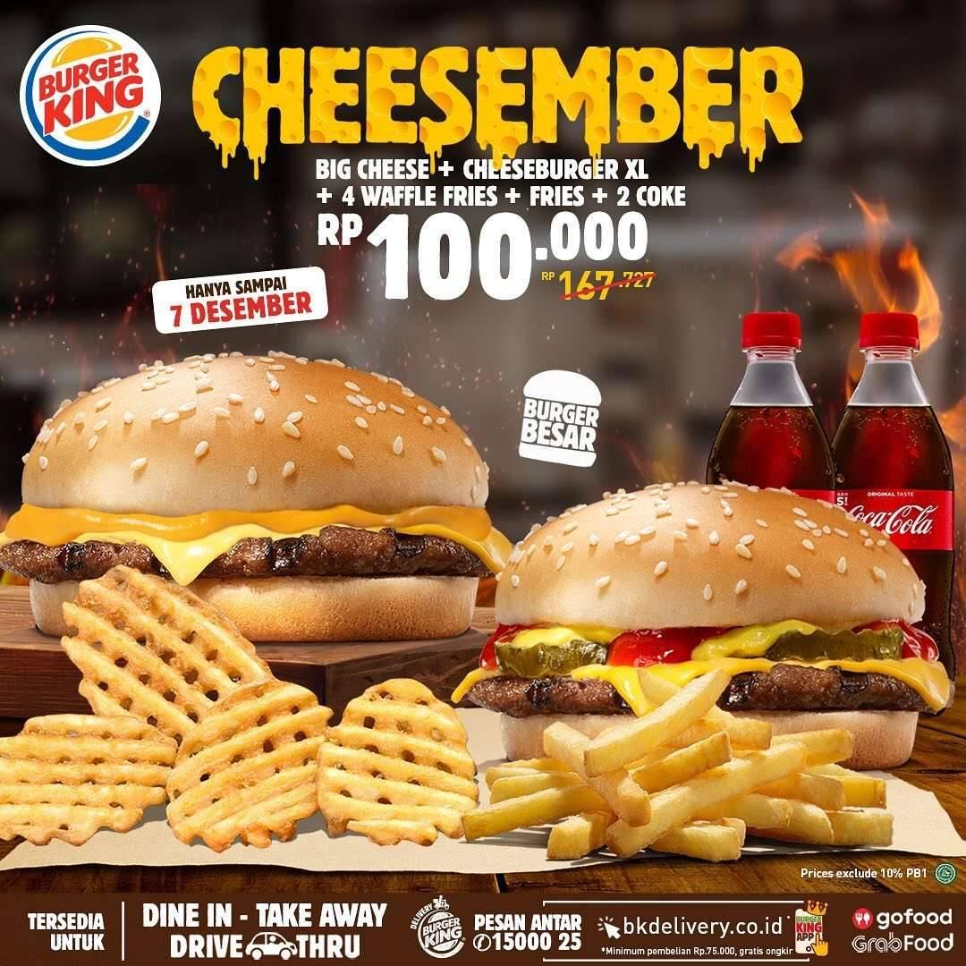 Promo diskon Burger King Promo King's Chicken Cheesember