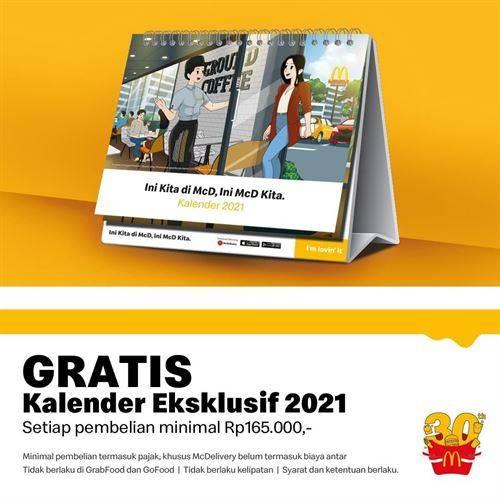 Diskon McDonalds Promo Gratis Kalender 2021