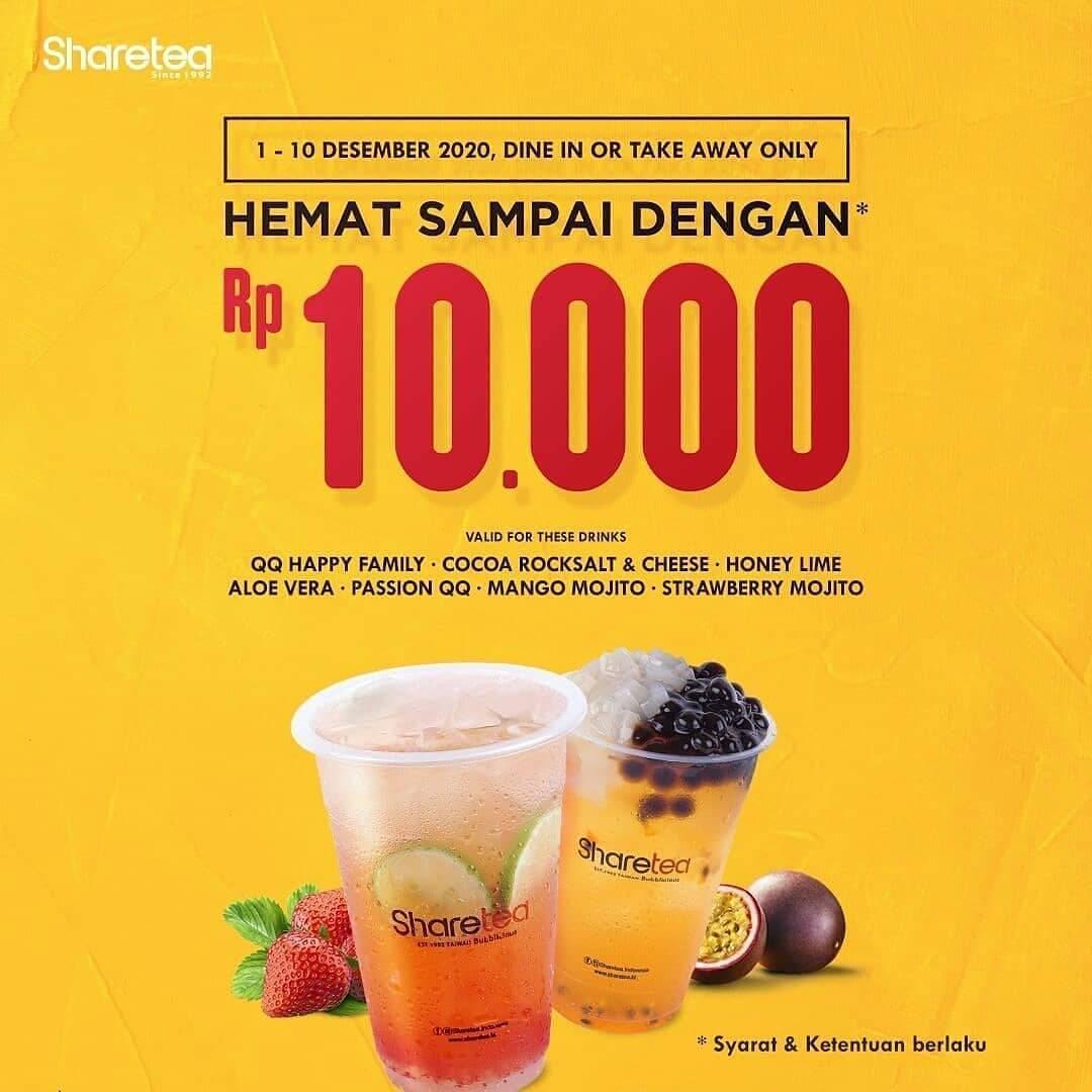 Diskon Share Tea Promo Hemat Sampai Dengan Rp. 10.000