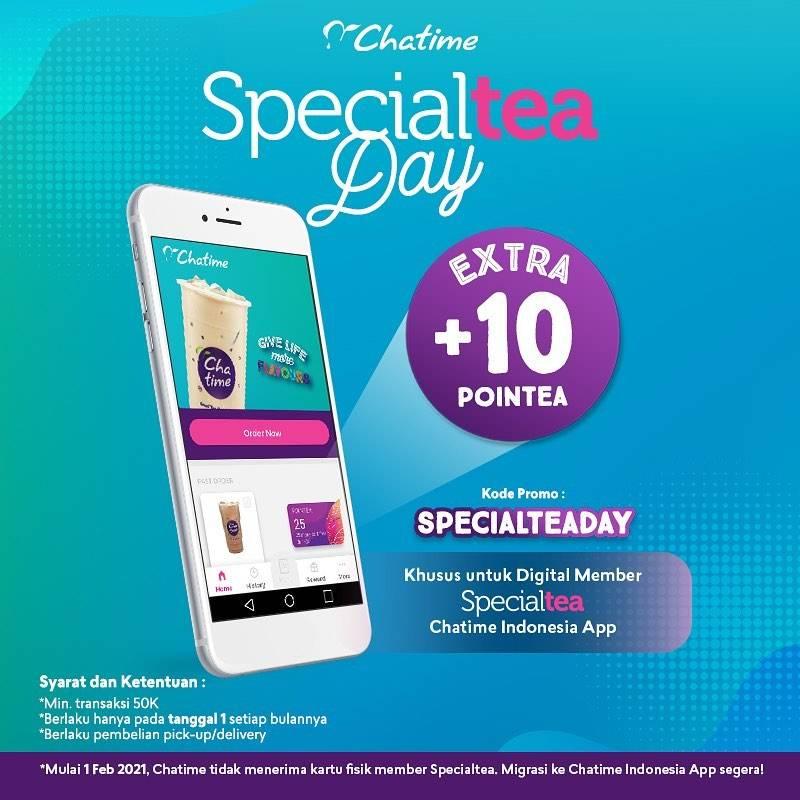 Diskon Chatime Promo Specialtea Day - Extra +10 Pointea