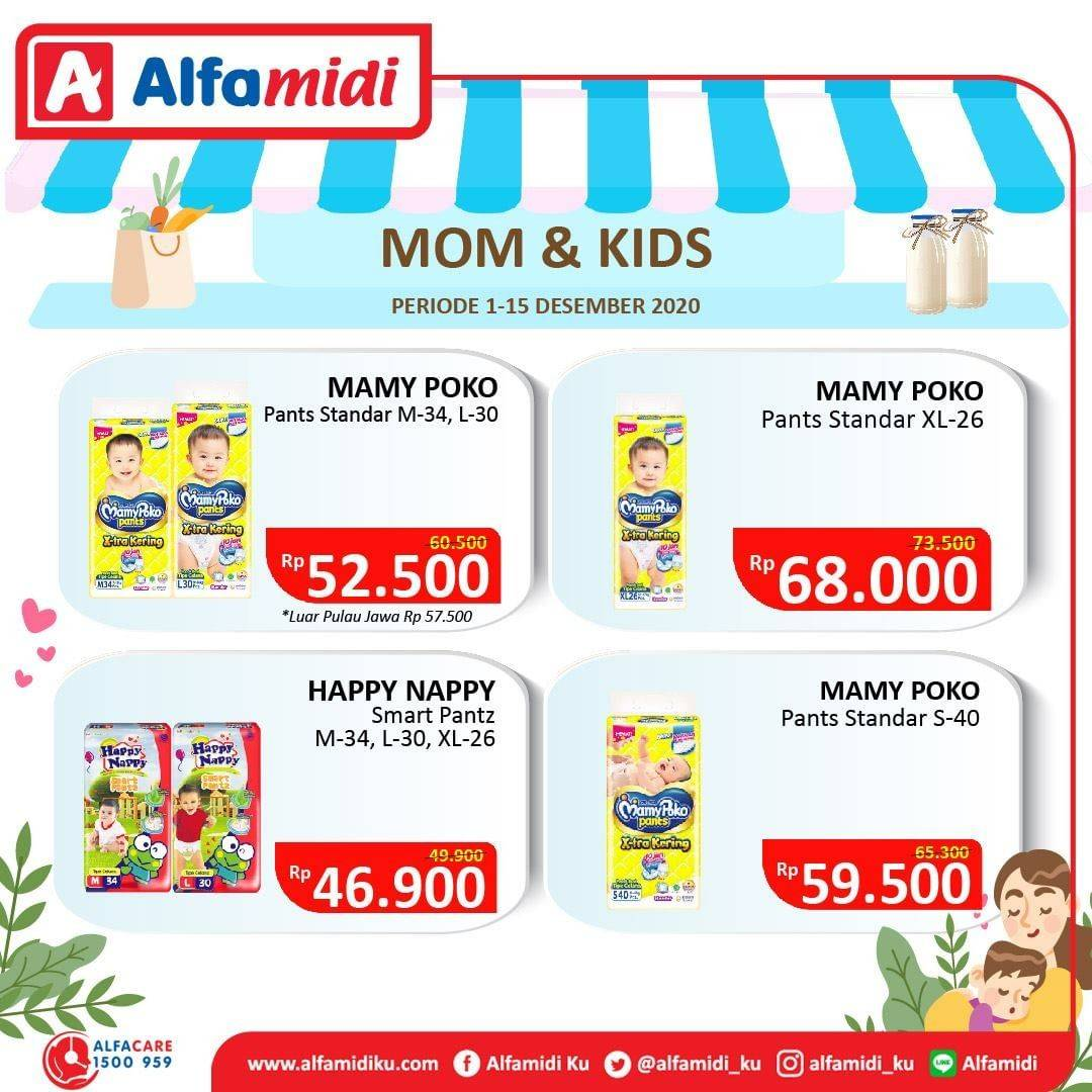 Promo diskon Katalog Promo Alfamidi Ibu dan Anak Periode 1 - 15 Desember 2020