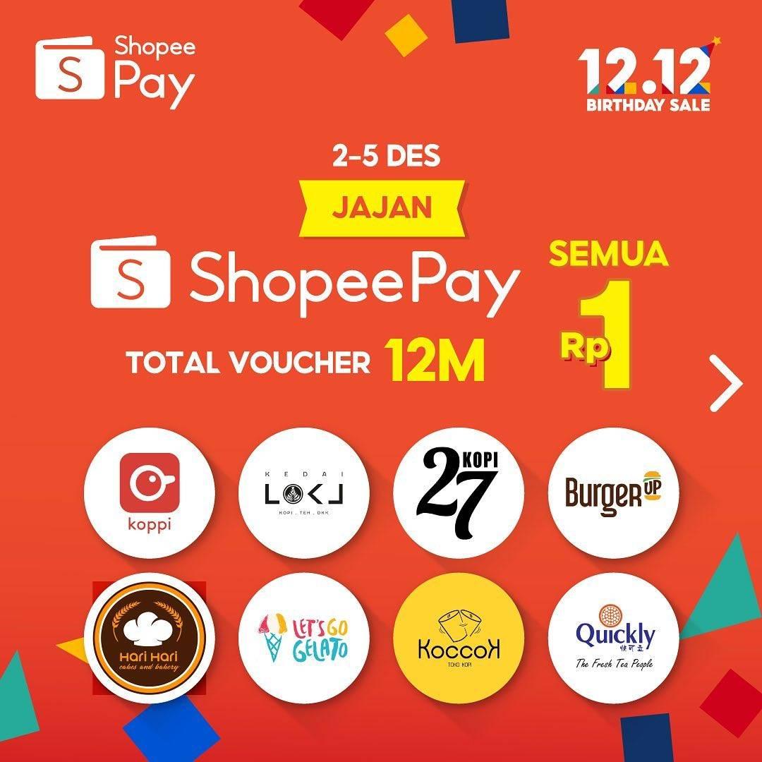 Diskon Shopeepay Promo Voucher Jajan Rp. 1 Di Merchant Pilihan