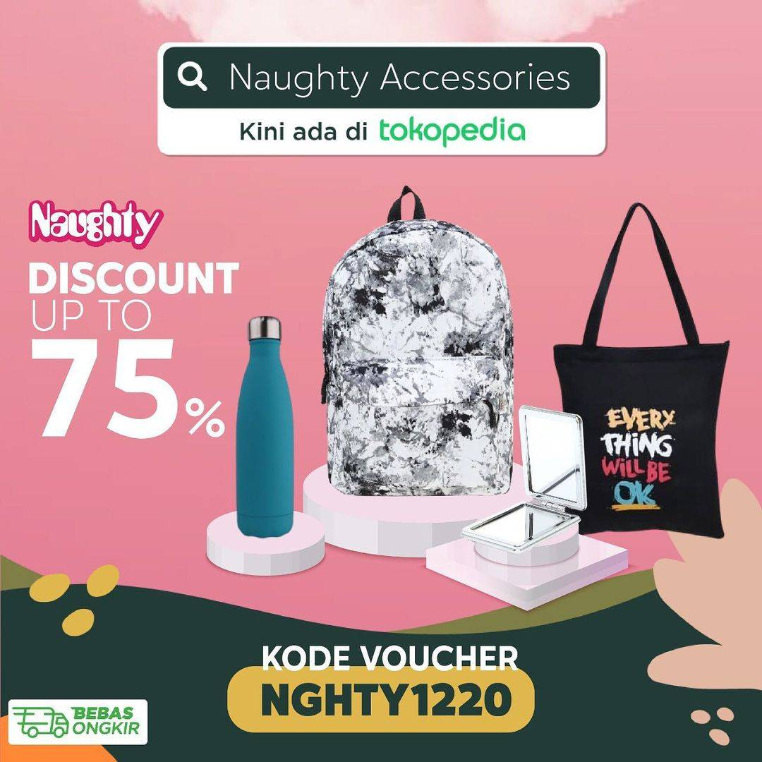 Diskon Naughty Discount Up To 75% Off On Tokopedia