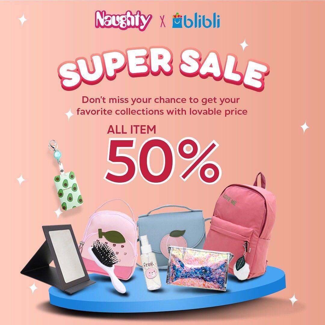 Diskon Naughty Promo Super Sale 50% On All Items