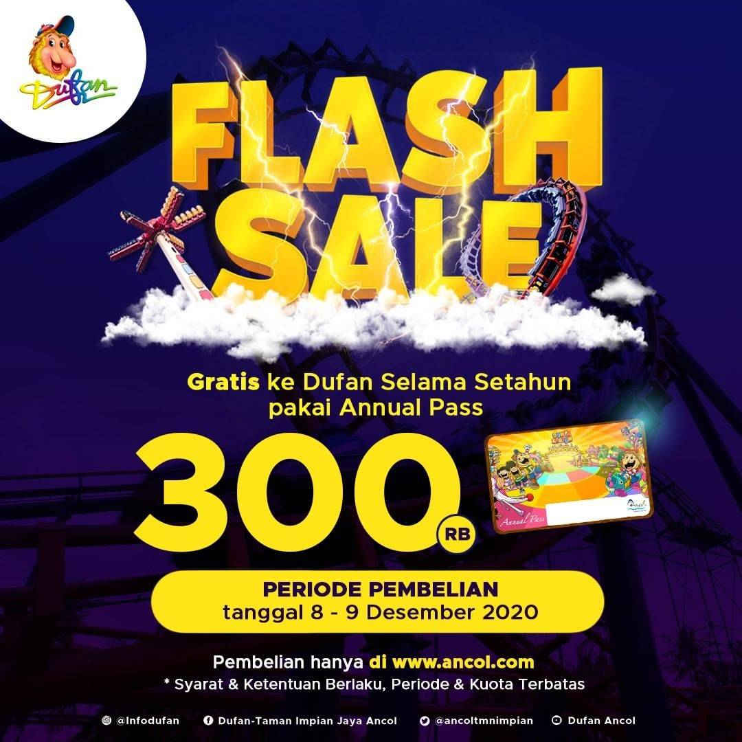 Diskon Dufan Flash Sale Annual Pass Setahun Only For Rp. 300.000