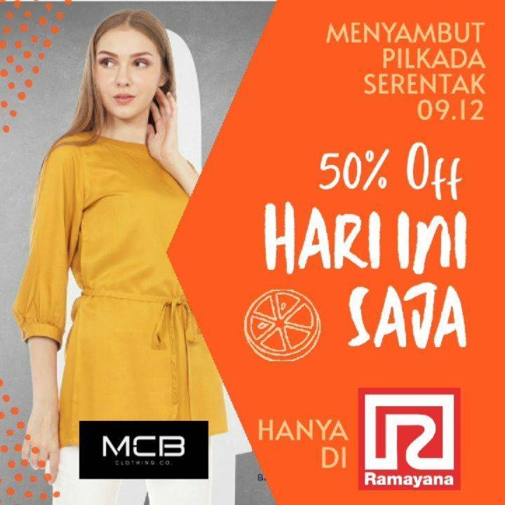 Diskon Ramayana Dept Store Promo Pilkada Serentak Discount 50% Off