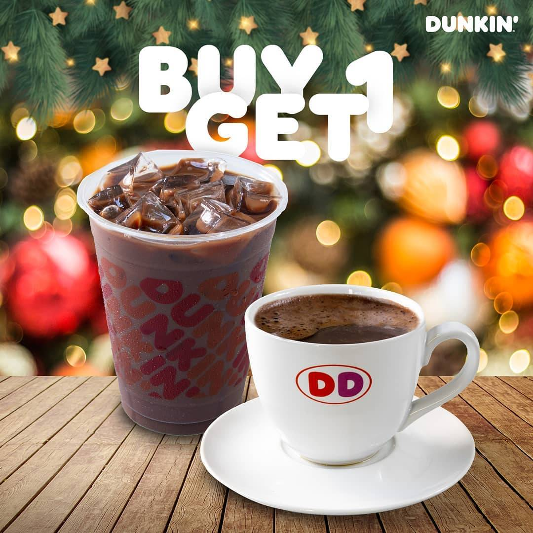 Diskon Dunkin Donuts Buy 1 Get 1 Free All Beverages With DD Card