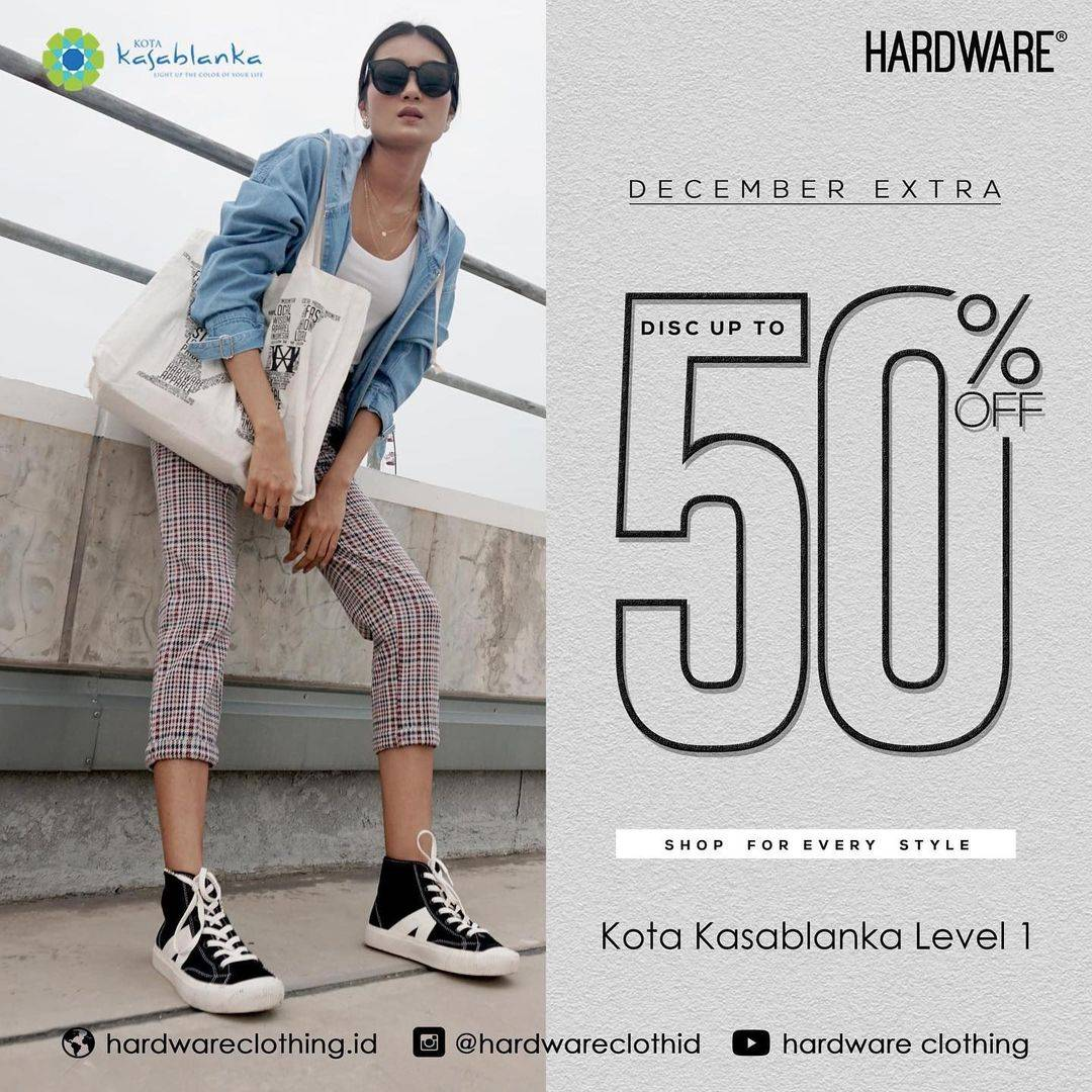 Promo diskon Hardware December Extra Discount Up To 50% Off