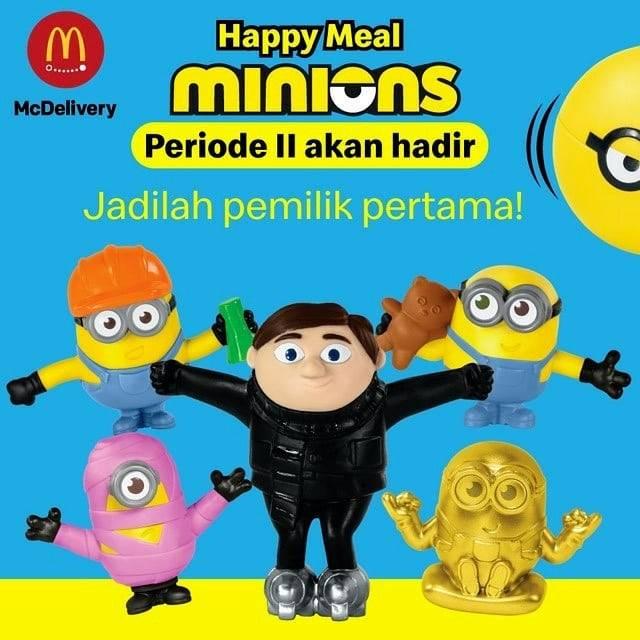 Diskon McDonalds Promo Pesan Lebih Awal Happy Meal Minions