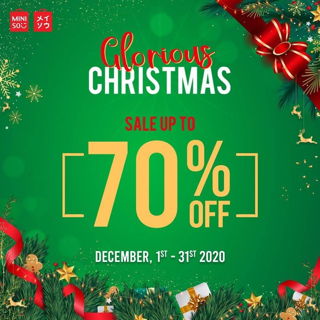 Diskon Miniso Promo Glorious Christmas Sale Up To 70% Off