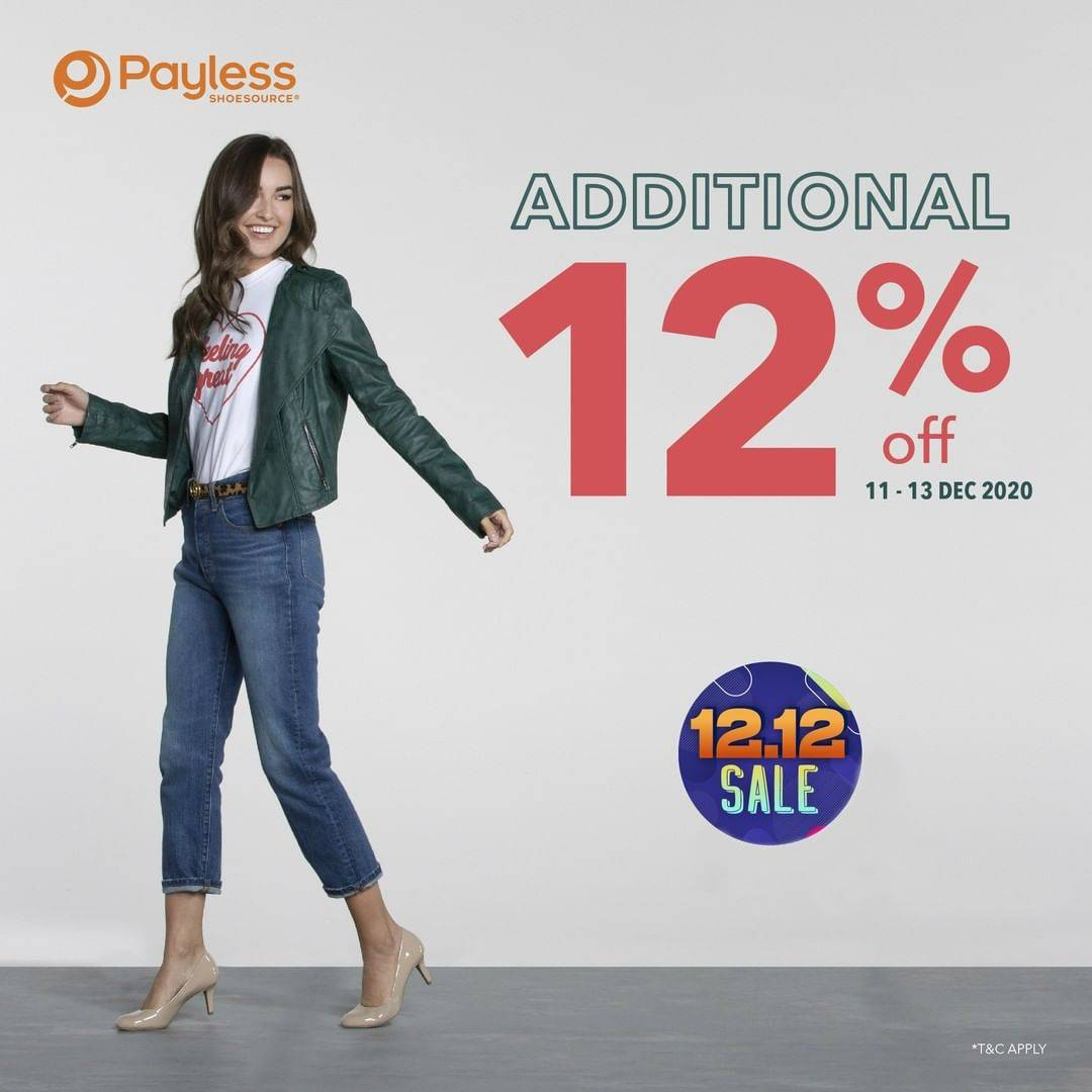 Diskon Payless Promo 12.12 Sale Additional Discount 12% Off